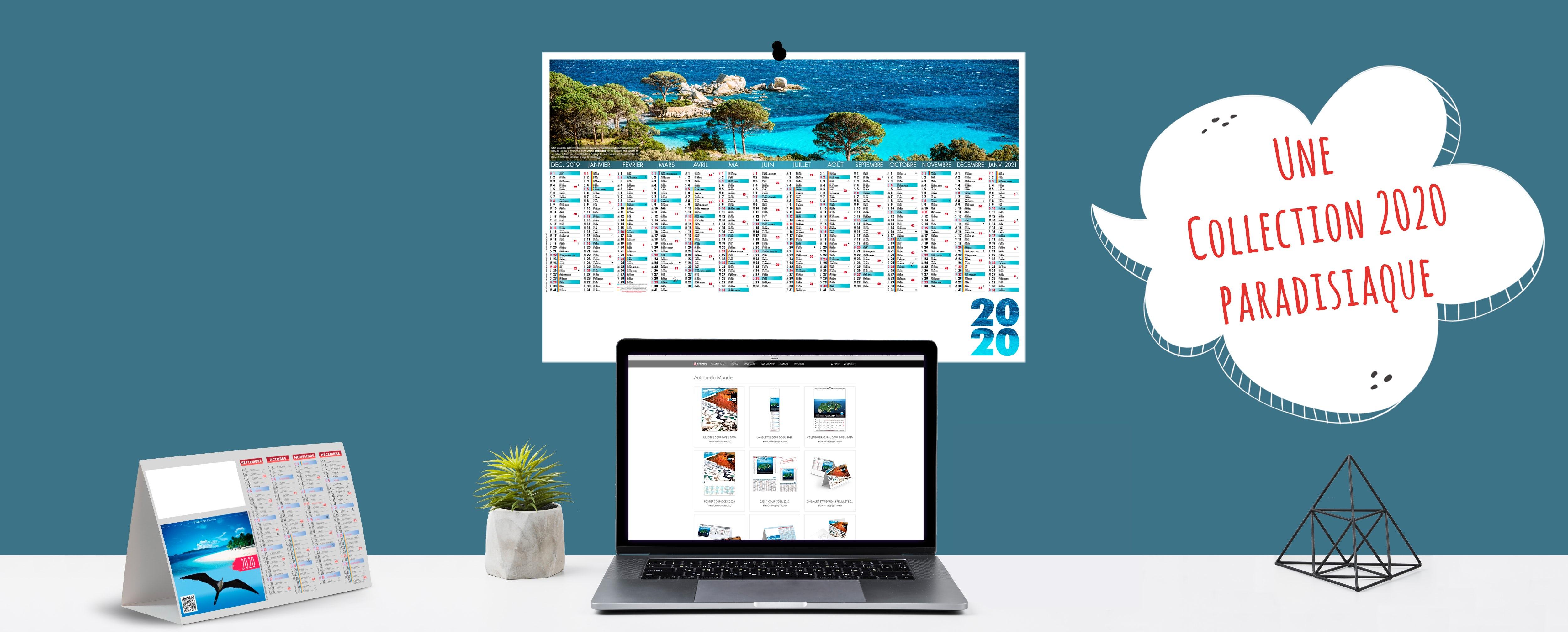 Nouvelle collection de calendriers 2020