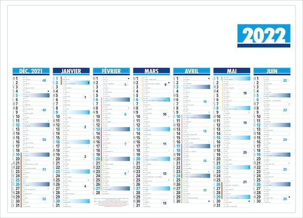 Calendrier 2022 Personnalisé Pas Cher Calendrier 2022   BANCAIRE FLORENTIN