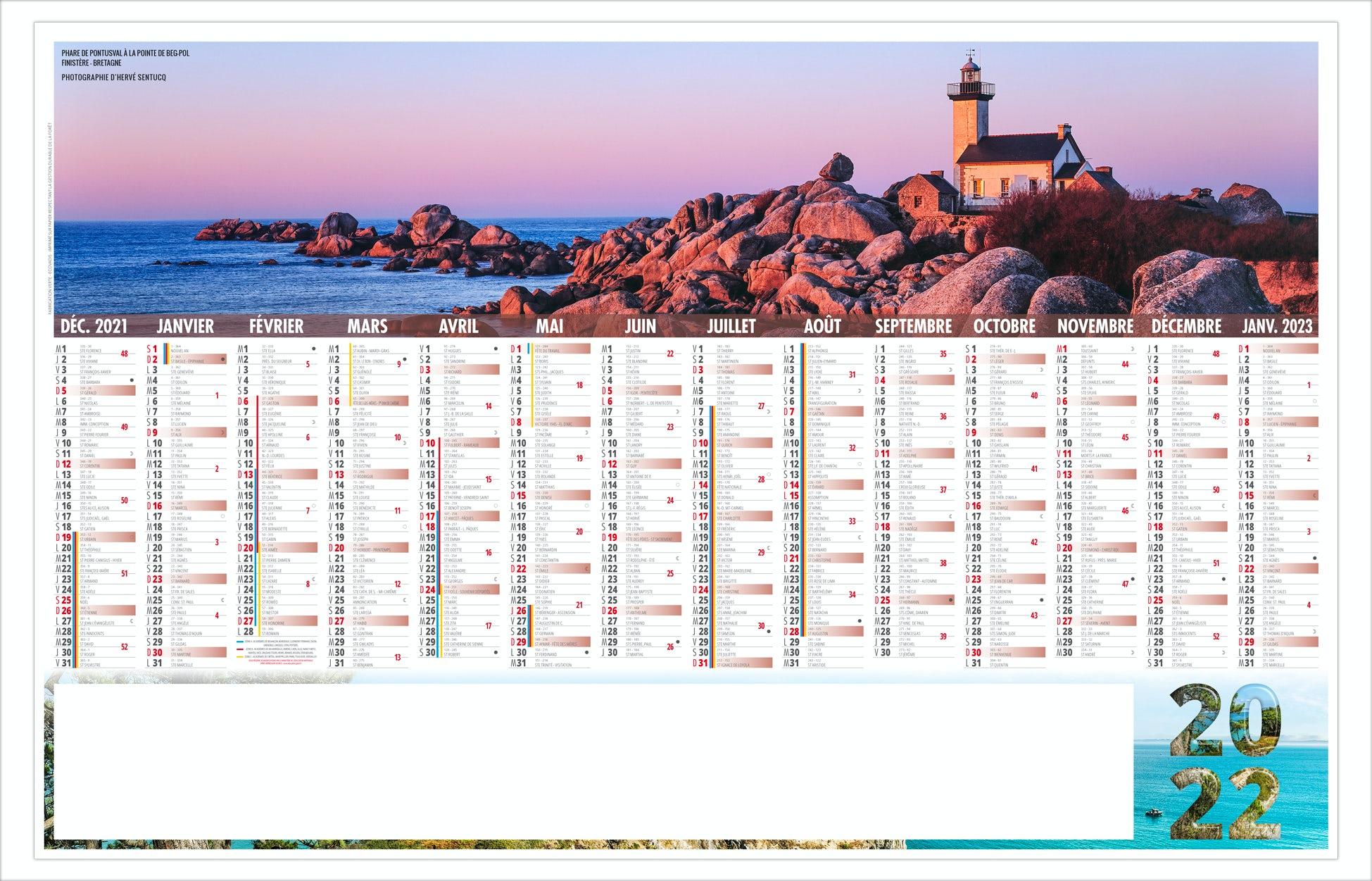Calendrier Breton 2022 CALENDRIER BANCAIRE LIBRE CHOIX BRETON 2022
