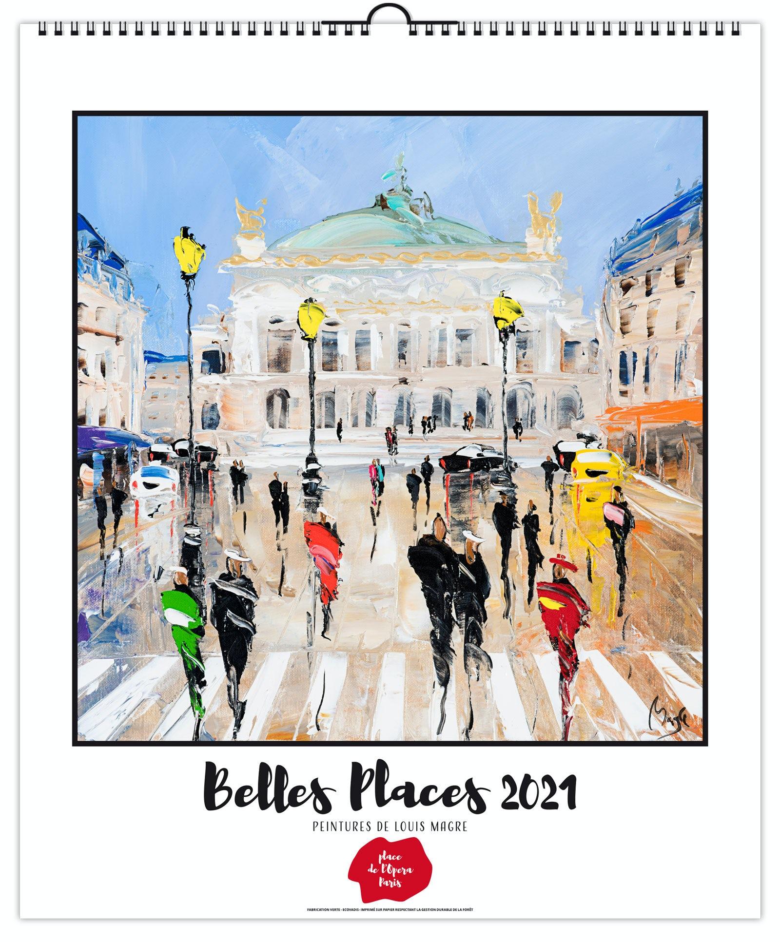 Calendrier 2021 illustré de 7 feuillets de peintures réalisées par