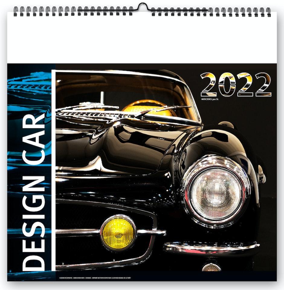 Calendrier 2022 Design Calendrier 2022 illustré de voitures de collection