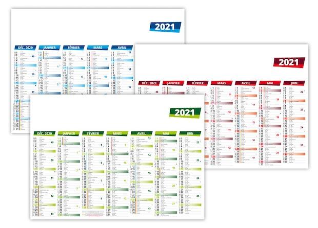 Calendrier bancaire personnalisé à pas cher 2021