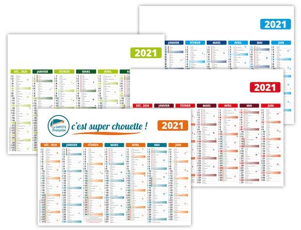 Calendrier bancaire personnalisé pas cher 2021
