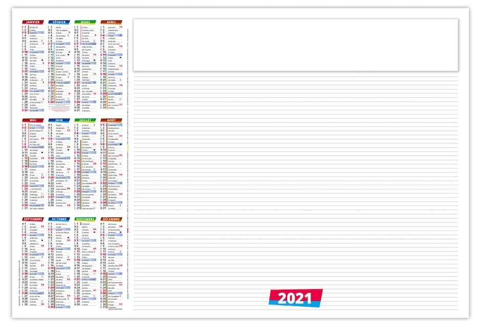 Calendrier Sous Main 2021 Calendrier sous main 2021 Alexandre